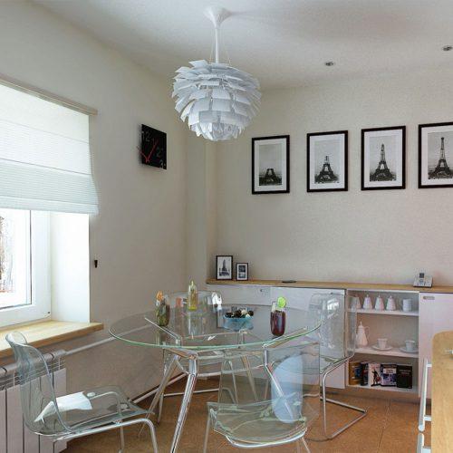 Прозрачная мебель на кухне